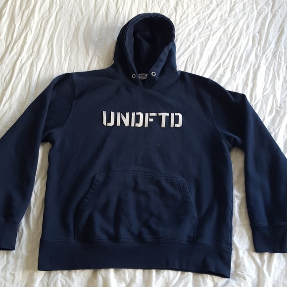 3eef2e22 Undefeated Shirts | Undftd Hoodie Pullover Navy Blue Large | Poshmark